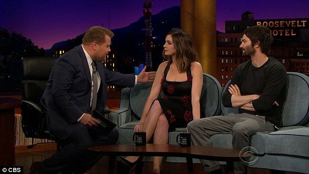 James Corden mocks The Late Late Show guest Anne Hathaway for British accent | Daily Mail Online