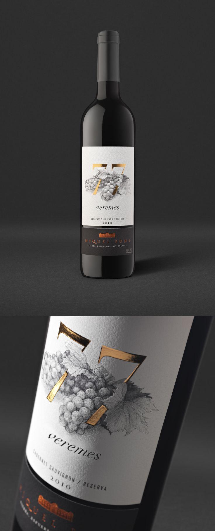 77 Veremes / 77 Vendimias / 77 Harvests de Celler Miquel Pons. Design by…