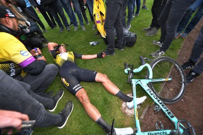 Wout Van Aert after his somewhat trying day at Paris-Roubaix 2019 | Paris  roubaix, Lotto soudal, Paris
