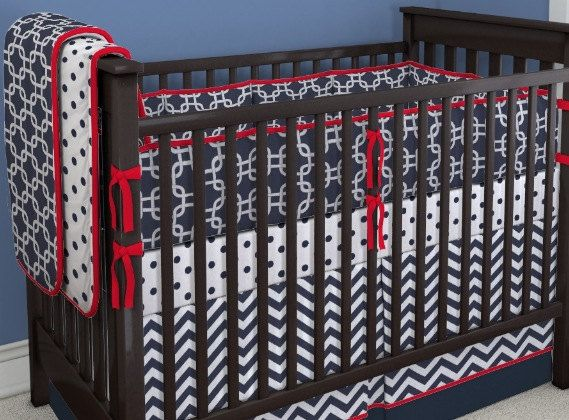 Perless Crib Bedding Set Red White And Blue Things I Love Pinterest Baby Cribs Boy