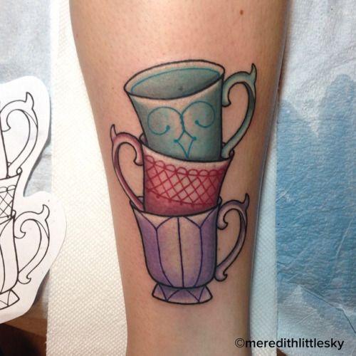 66 best Tattoo ~ Tea cup images on Pinterest   Tattoo ...