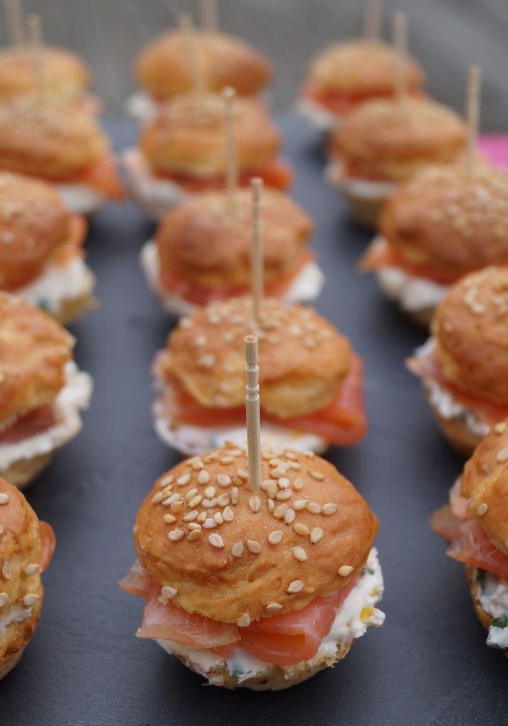 Recettes gourmandes by Kélou: Mini burgers au saumon fumé