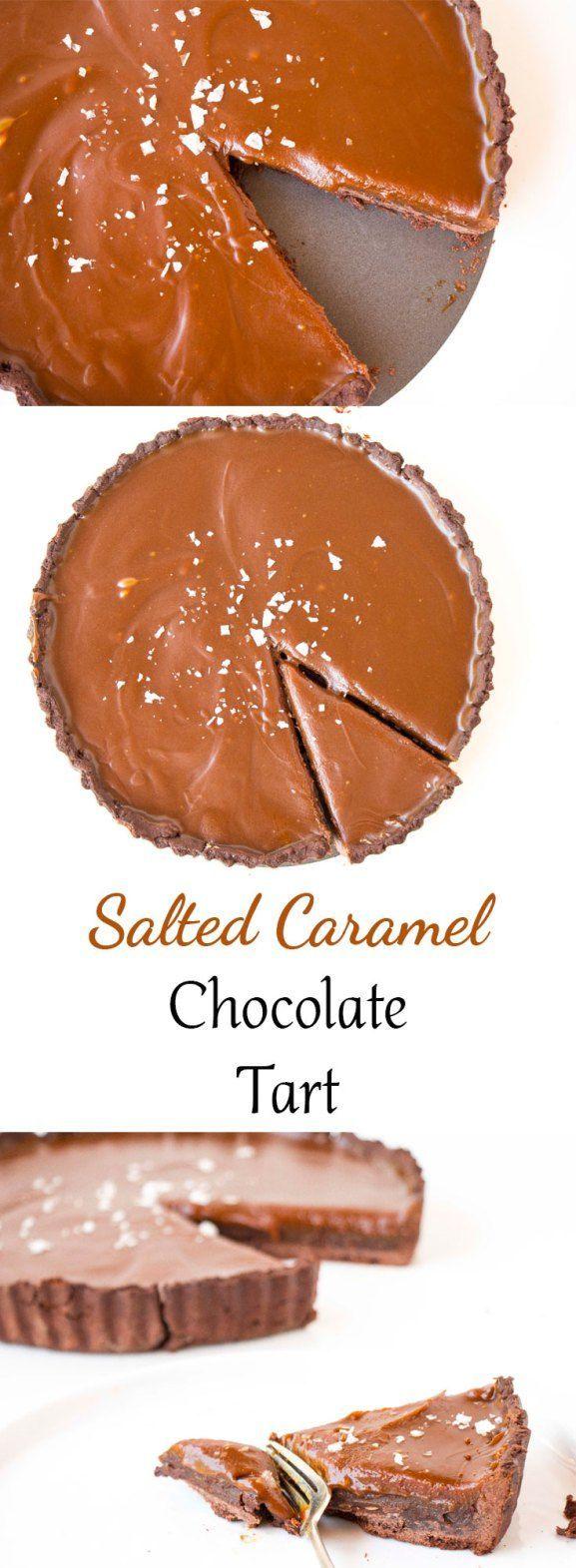 Salted Caramel Chocolate Tart - Baking-Ginger