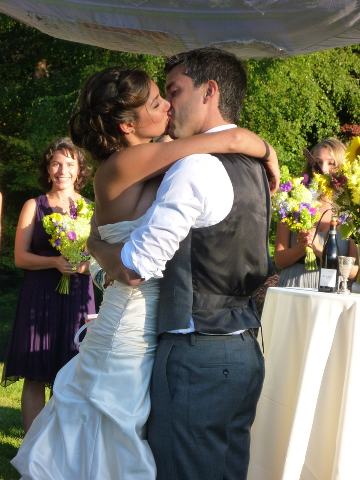 The 25 best first kiss wedding ideas on pinterest first kiss jewish christian interfaith wedding ceremony stephani john 2011 first kiss officiated junglespirit Image collections