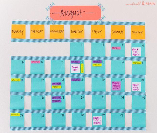 Calendar Monthly Basis : Best diy calendar ideas on pinterest desk