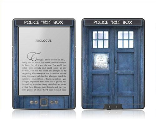 Amazon New Kindle 4 Skin Cover  Doctor Who Tardis by skunkwraps, $14.95