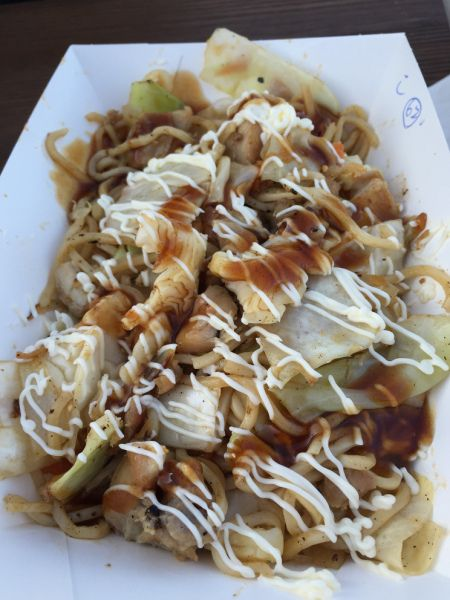 From 'Teppanyaki Noodles' we tried chicken yakisoba with noodles, carrot, and chicken pieces was covered in two sauces and the combination was a little unusual for my liking.