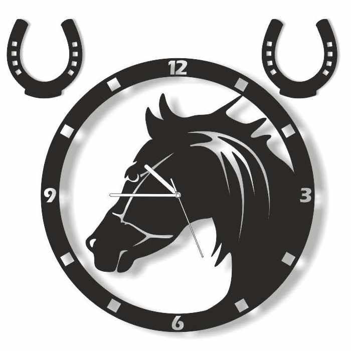 Dekoracyjny zegar ścienny Urlik Design Koń ◾ ◾ PrezentBox