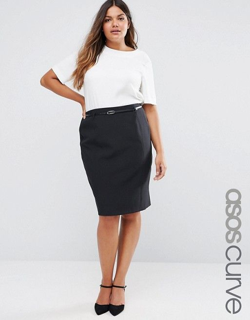 ASOS Curve | ASOS CURVE Belted Pencil Skirt