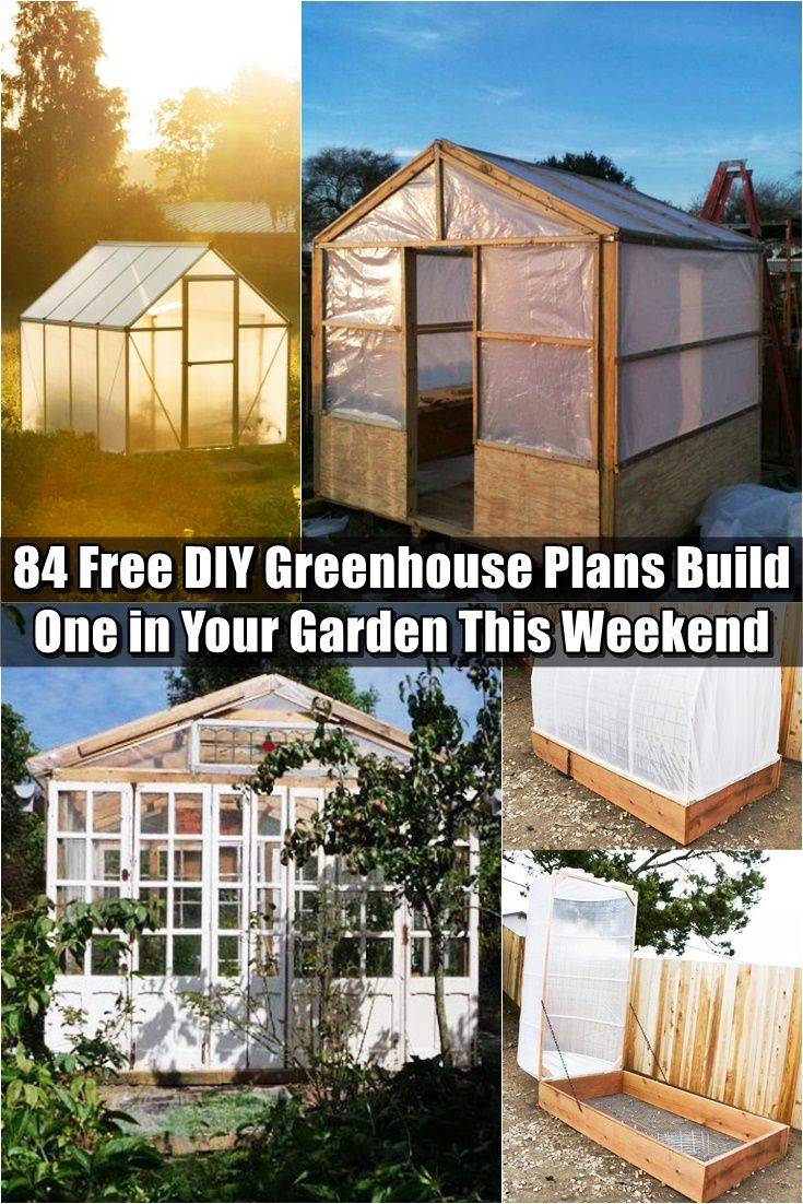 84 Free DIY Greenhouse Plans to Help You Build One in Your Garden This Weekend - Having a greenhouse is very important if you have the time and space. When temperatures and humidity are kept stable you will be able to produce much better yields in your garden. If SHTF or you get hit with weeks of bad weather it will likely negatively affect your garden.