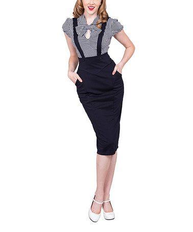 Pin Up Girl Style!!! Look at this #zulilyfind! Navy Charlie Jumper Skirt - Women & Plus #zulilyfinds