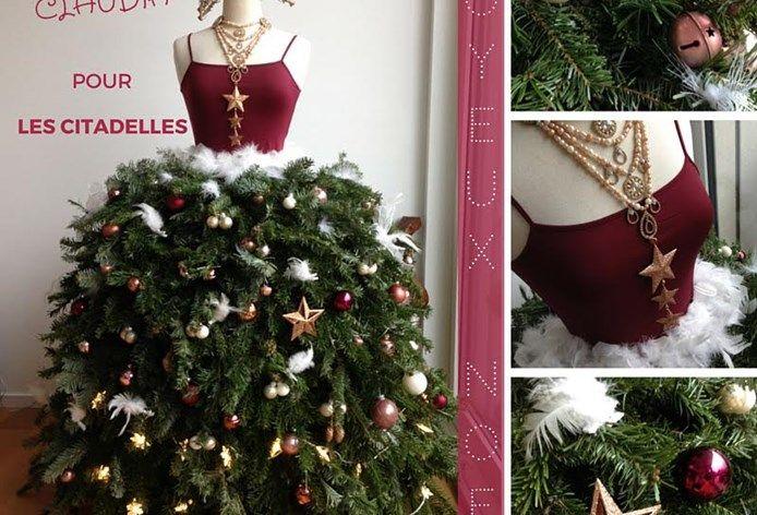 Un joyeux Noel se prépare Christmas time is coming at Les Citadelles Christmas tree dress for Claudia our cherished model Robe Sapin de Noël