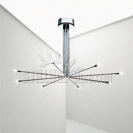 Cini&Nils Light Sistem 8L Tali composizioni sono in grado di soddisfare le più sofisticate esigenze architettoniche, dimensionali, funzionali e di illuminamento di ogni ambiente, dai corridoi lunghi e stretti, ai grandi saloni di rappresentanza.