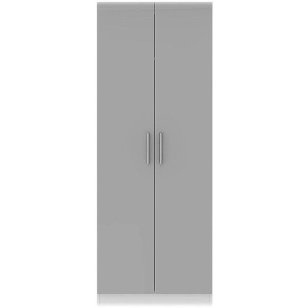 Swift Montreal Ready Assembled Tall 2 Door Wardrobe ($325) ❤ Liked On  Polyvore Featuring