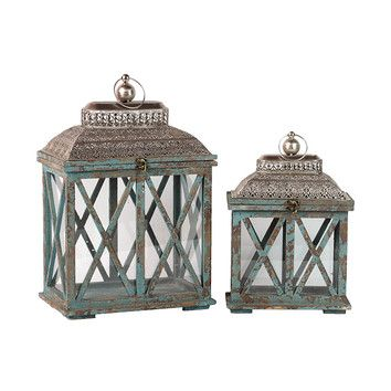 FREE SHIPPING! Shop Wayfair for Woodland Imports 2 Piece Classic and Traditional Wooden Lantern Set - Great Deals on all Decor products with the best selection to choose from!