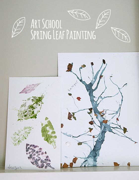 spring leaf art project for kids | hammer natural pigments out of leaves | fun & eco-friendly at the same time :)