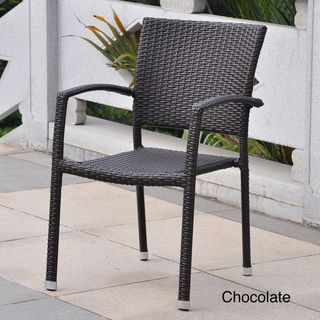 Atoverstock Barcelona Resin Wicker Outdoor Dining Chairs Set Of 6 Sit