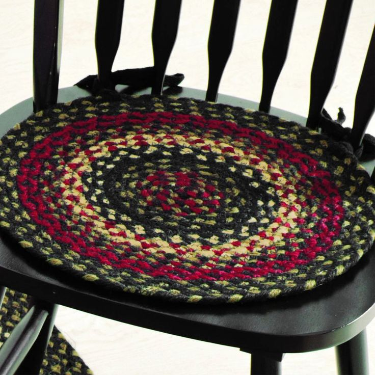 Tartan #braided #chair #pads Add Instant Beauty To Any Chair While Tie Backs
