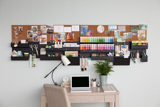 Take organization to new heights with the Martha Stewart Home Office wall manager