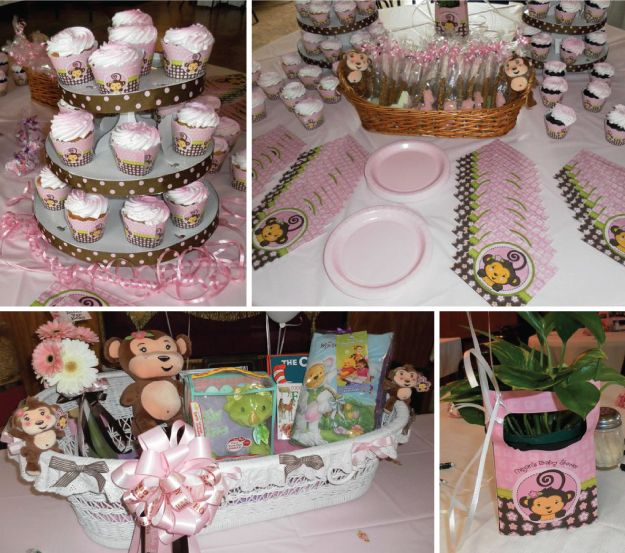 45 best images about monkey girl baby shower birthday - Unique baby shower theme ideas ...