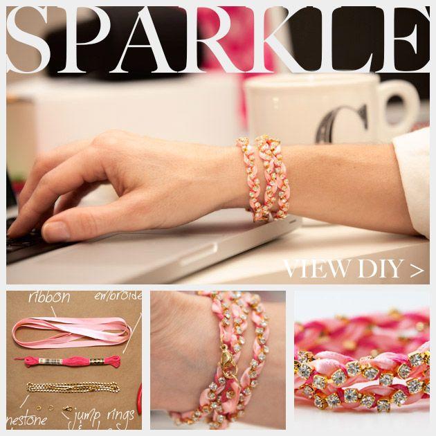 Rhinestone Braided Bracelet DIY Feature