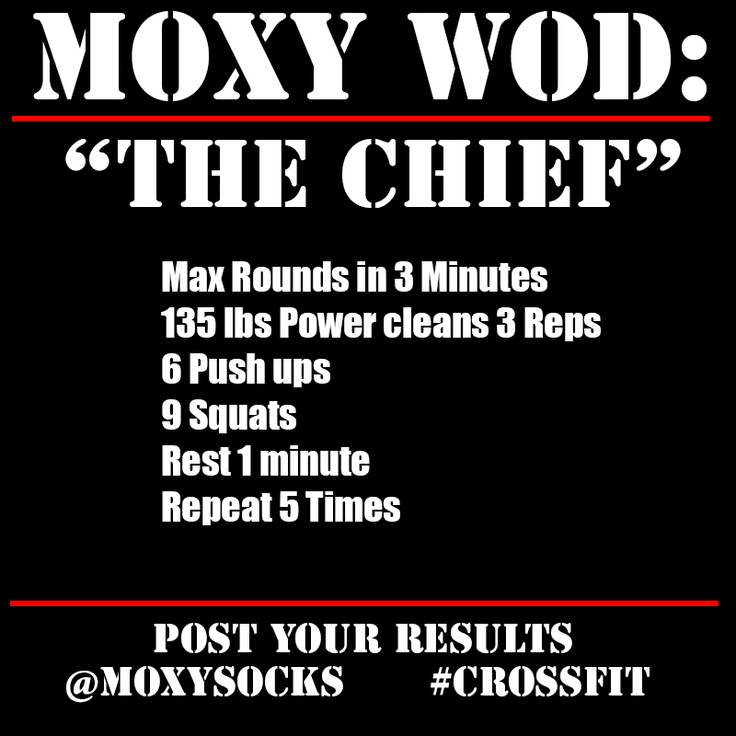 #CrossFit #TheChief #WOD 4/24/2014  Every 1 min for 10 mins do:  3 Power Cleans, 70% 1RM 1 Front Squat, 70% 1RM Then: The Chief For 5 cycles: AMRAP in 3 mins of: 3 Power Cleans, 95 lbs (women) 6 Push-ups 9 Air Squats Rest 1 min between each cycle.  Final score is the total number of reps for all 5 cycles Buyout Snatch Lift Off 8-8-8 [20 rounds]