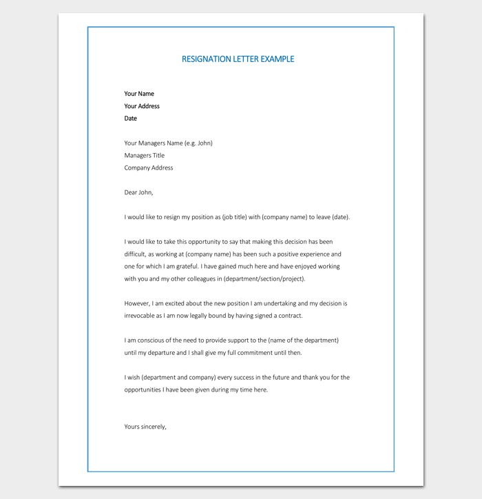 48 best letter templates write quick and professional images on resignation letter template 7 for word doc pdf format altavistaventures Choice Image