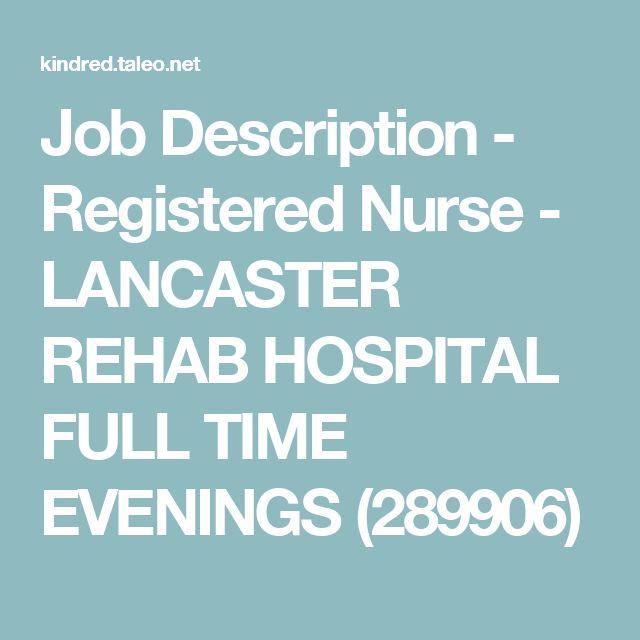 best 25 registered nurse job description ideas on