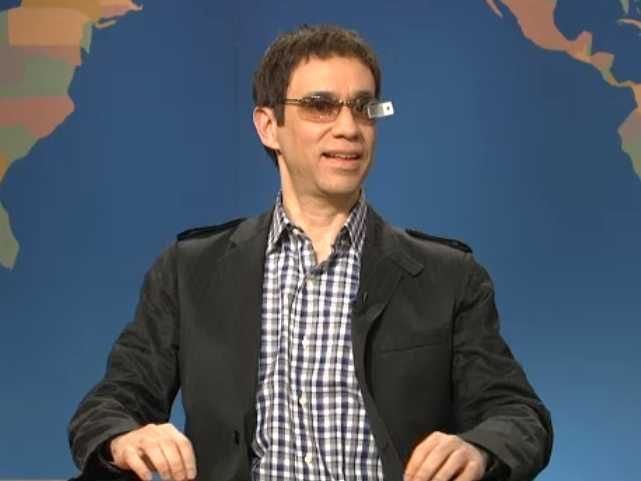 """Watch SNL Roast Google Glass In Last Night's 'Weekend Update."""" Google Glass and wearable technology is one the the latest trends but are they ready, and are we ready for them? Like everything new, the early adopters are usually ten years early to the party, This is an amusing early commentary."""