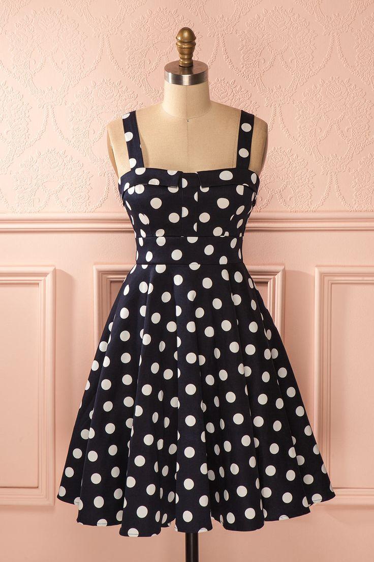 17 meilleures id es propos de robe pois sur pinterest tenue pois jupes pois et. Black Bedroom Furniture Sets. Home Design Ideas