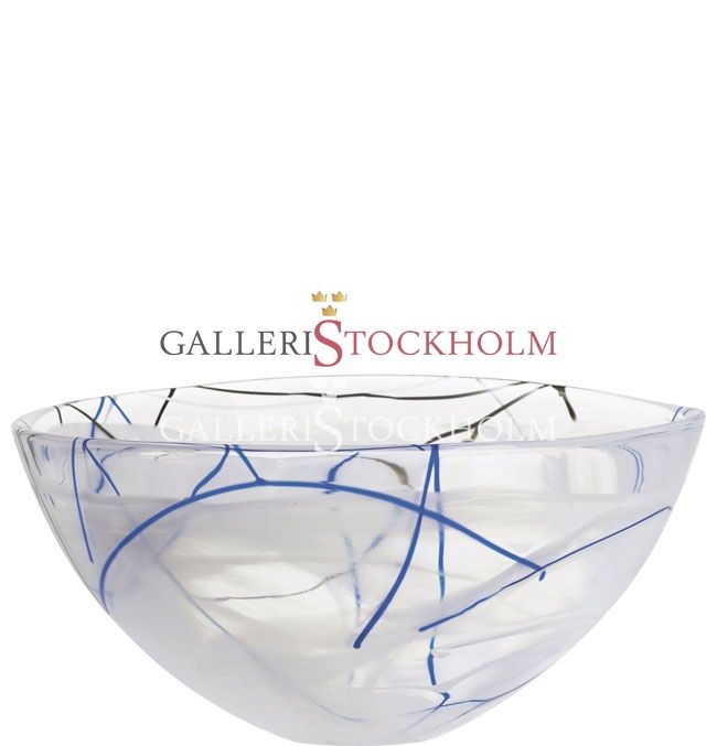 Anna Ehrner - Glaskonst - Contrast - Stor skål vit Kosta Boda Beställ här! Klicka på bilden.