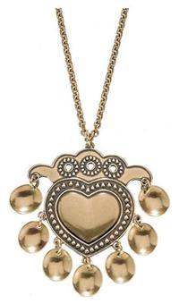 saame-inspired heart design - salt ornament pendant by kalevala koru