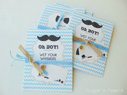 προσκλητήριο βάπτισης-wet your whiskers-μουστάκια
