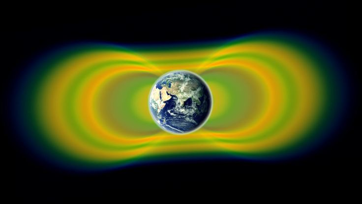 The Van Allen radiation belts are giant swaths of magnetically trapped, highly energetic charged particles that surround Earth.