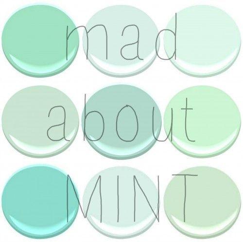 Mint Wandfarbe: BENJAMIN MOORE : MINT GREEN, SPRING MINT, FRESH MINT
