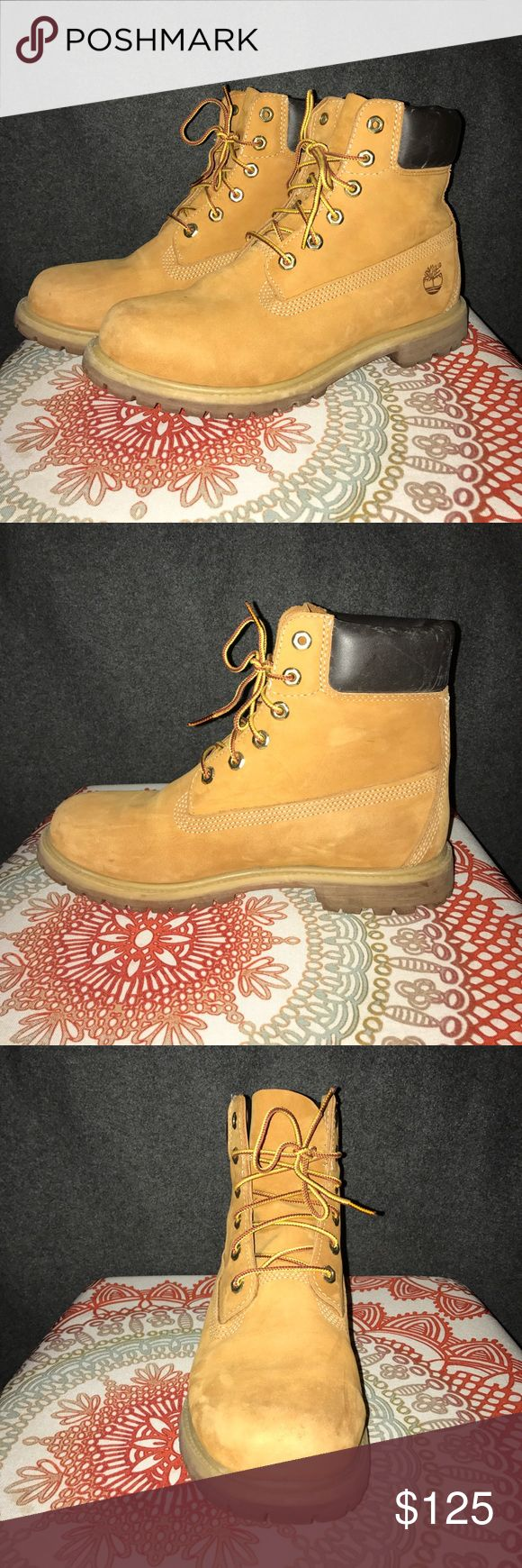 Women's Timberland 6-Inch Premium Boots Barely worn, fantastic condition Timberland boots! Premium 6-Inch style, Wheat Nubuck color, size 10 in women's. Timberland Shoes Ankle Boots & Booties
