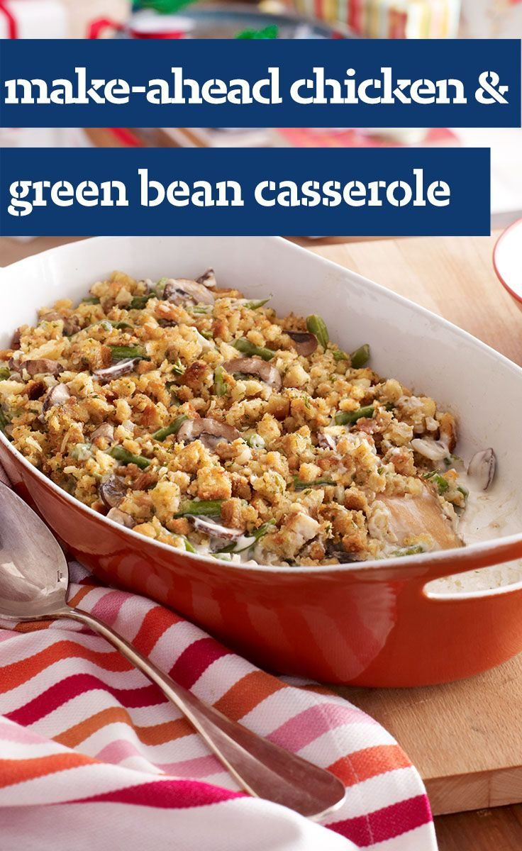 Make-Ahead Chicken Bake This crunchy, saucy hot dish is potluck-perfect! It's so convenient because you can make the casserole the day before and bake it the day of the potluck.4/4(4).