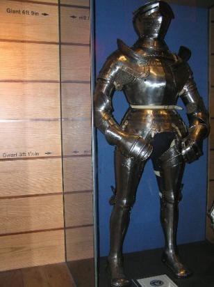 """John of Gaunt's massive suit of armour ... it is 6'9"""" tall!"""