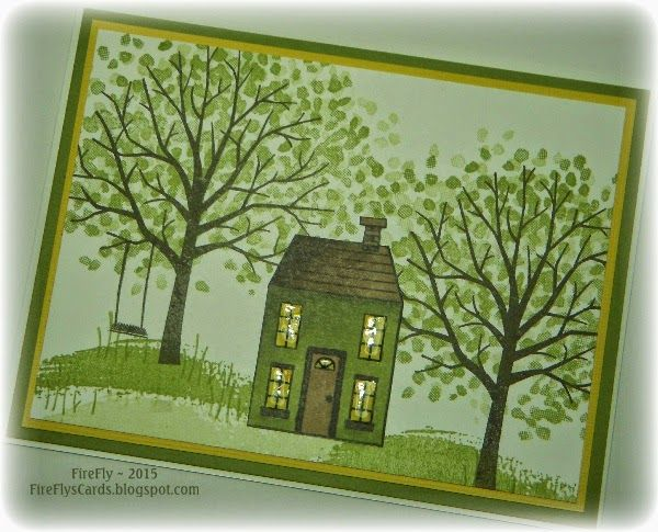FireFly's Cards: Just a Little House with Stampin' Up!