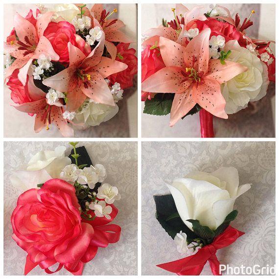 New Artificial Guava Bridal Bouquet Set Silk Guava Wedding