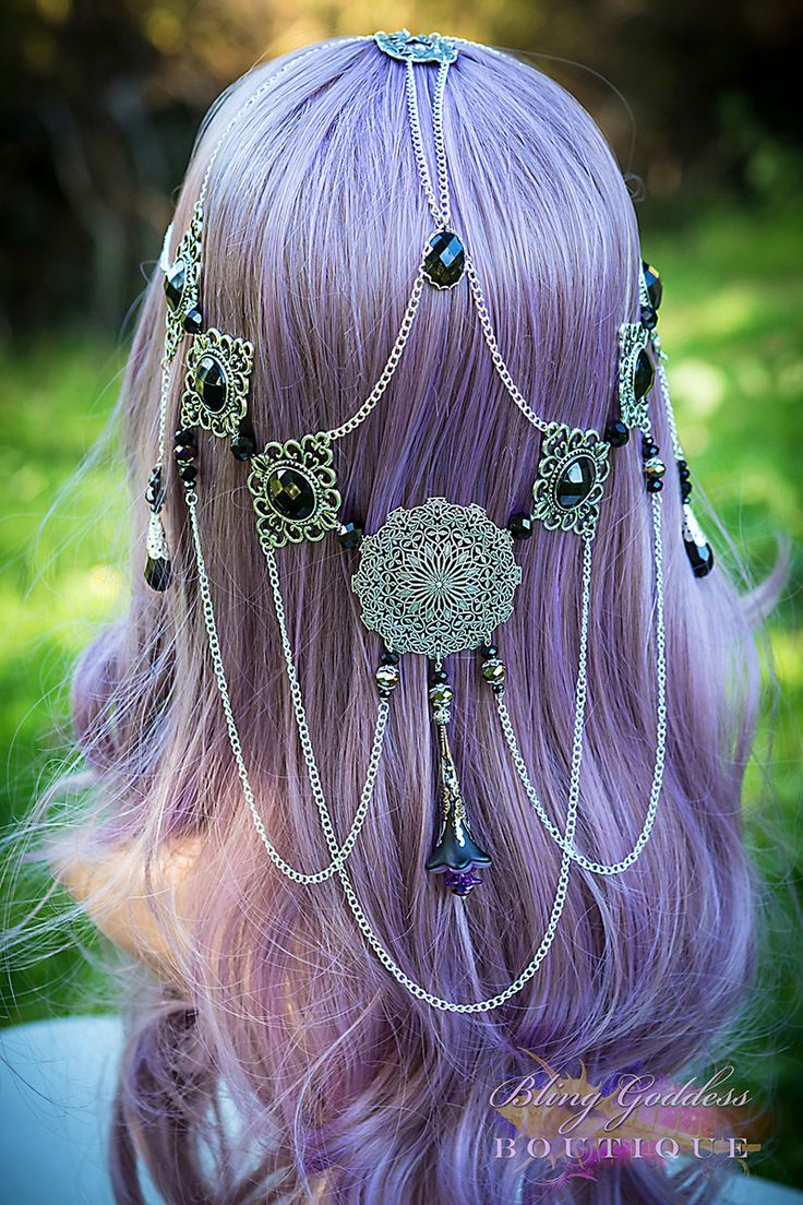 Mythic Dawn Gothic Circlet by BlingGoddessBoutique on Etsy. When my hair is really long, I'd curl it and wear this