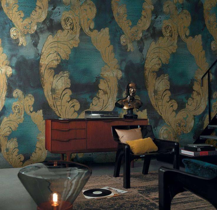 Panoramisch behang....digitaal geprint. #mural #wallpaper #casamance #benedetti #hulshout #interior #interieur #gordijnen