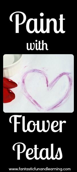 Paint with Flower Petals...great use for those freshly fallen flowers kids are always finding in Spring!