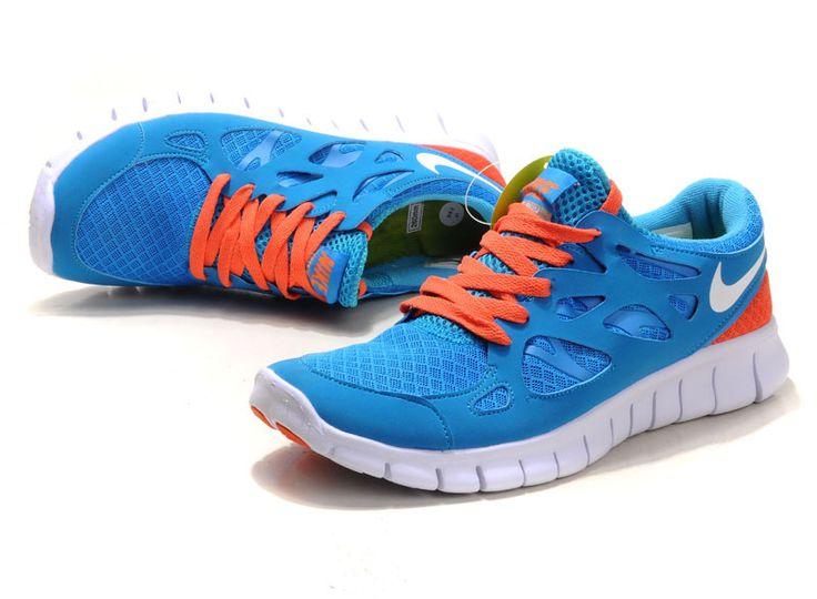 Nike Free Run 2 Kvinner Blå Orange €44.99