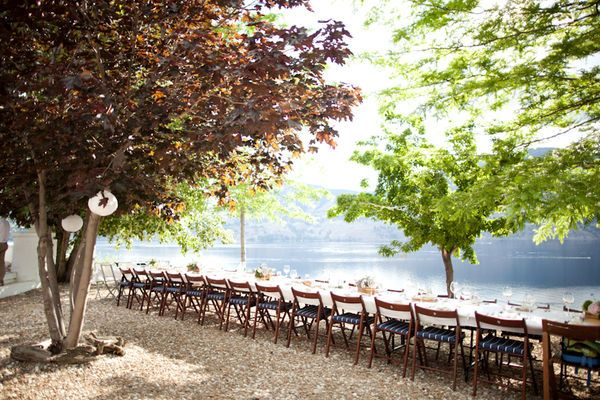 Harvest Style seating at God's Mountain Estate in Penticton, BC.