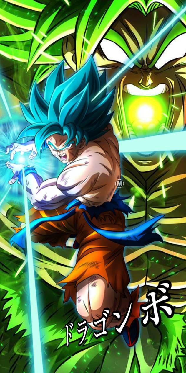 Goku Blue Vs Broly By Miftahuldesainart On Deviantart Dragon Ball Image Dragon Ball Wallpapers Anime Dragon Ball Super