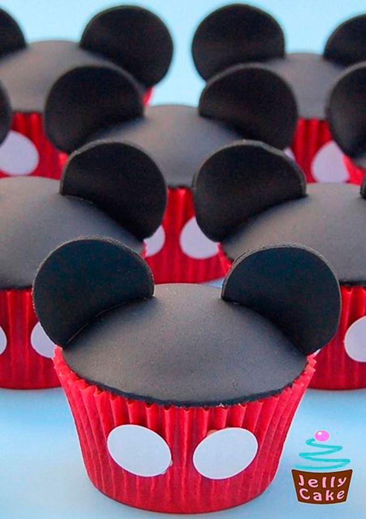 Cupcake do Mickey- 33 incríveis ideias - Dicas da Japa