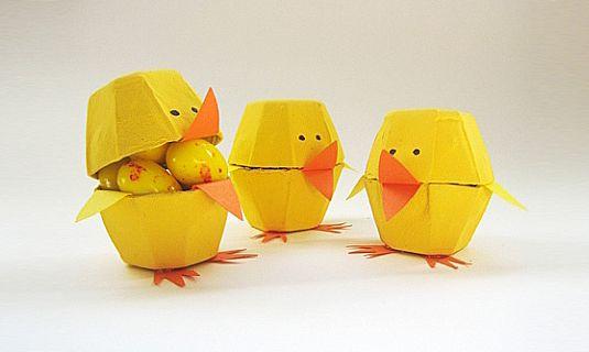 pasen knutselen eierdozen