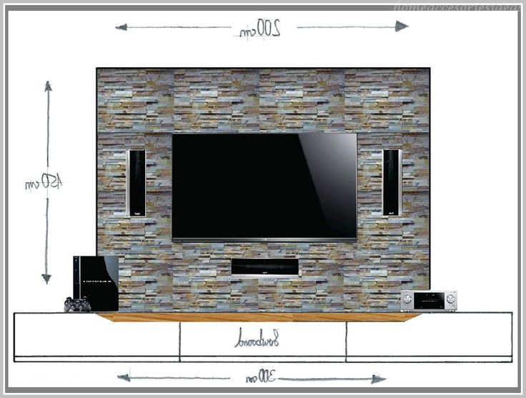 best 25+ tv wand stein ideas only on pinterest, Modern haus