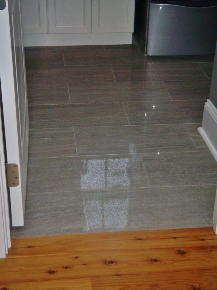 12x24 Porcelain Tile At Laundry Room Floor Home
